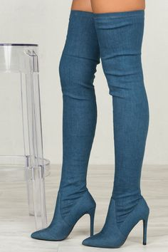 The sexiness thigh high boot is ready to hit your kloset! The Gigi hugs your legs perfectly and has amazing stretch. Simple and sleek. - Fits true to size for most - 4 inch heel