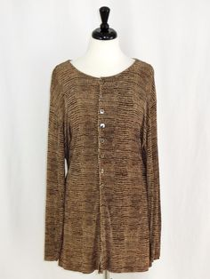 d73e94ac2c90 Chicos Private Edition Travelers Animal Print Button Front Jacket Brown 3 L  16 #Chicos #