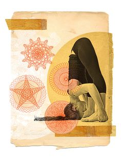 Yoga Collage by Gregory Ryan Klein Yoga Images, Yoga Pictures, Insta Pictures, Yoga Sequences, Yoga Poses, Yoga Cartoon, Ayurvedic Healing, Yoga Illustration, Yoga Photography