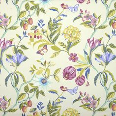 Botanica Curtain Fabric In Tropical Curtain Material, Curtain Fabric, Free Fabric Samples, Floral Curtains, How To Make Curtains, Retro Floral, Fabric Patterns, Style Patterns, Soft Furnishings
