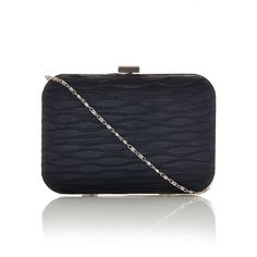 Rouched Clutch Bag Black