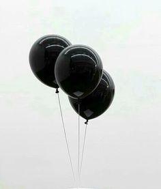 ★ #details #fashion #inspiration black, balloons, and grunge