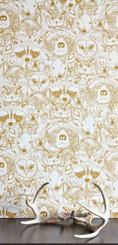 Removable wallpaper. So many cute and trendy prints to choose from! Use this to cover back panel of book case.
