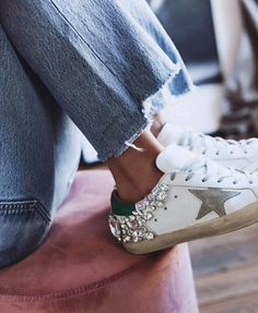 """6fb0089b439 Maria Manquinho on Instagram  """"Sneakers   jeans vibes on  friday ✨💎"""". Golden  GooseStyle ..."""