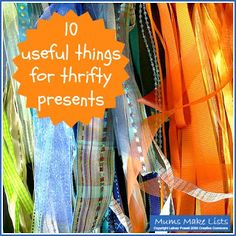 10 useful things for making thrifty presents Boven Make Lists Natural Cleaning Products, Staying Organized, Knitting Projects, Kids And Parenting, Sewing Hacks, Holiday Crafts, Cleaning Hacks, Diy Furniture, Presents