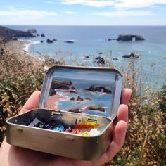 Tiny Landscapes Painted in Mint Tins by Artist Heidi Annalise