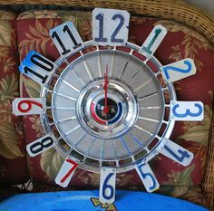 Hubcap Clocks License Plate Numbers Your Choice Ford by dables