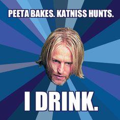The Hunger Games - Team haymitch! Hunger Games Jokes, Hunger Games Fandom, The Hunger Games, Hunger Games Catching Fire, Hunger Games Trilogy, Hunger Games Haymitch, Katniss And Peeta, Katniss Everdeen, Suzanne Collins