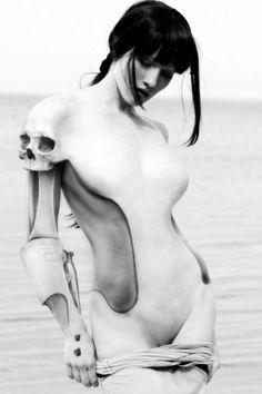 Android #skull #alien #concept