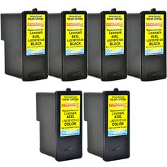 InkGrabber.com 6 PACK COMBO - Remanufactured Lexmark Inkjet Cartridges (6 PACK COMBO - Remanufactured Lexmark Inkjet Cartridges (Four 44XL Black and Two 43XL Color) Replaces the Lexmark# 18Y0144, 18Y0143 (Lexmark X 4850, Lexmark X 4875, Lexmark X 4950, Lexmark X 4975, Lexmark X 6570, Lexmark X 6575, Lexmark X 7550, Lexmark X 7675, Lexmark X 9350, Lexmark X 9575, Lexmark Z 1520)