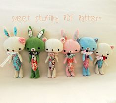 GIVE AWAY!!  Sweet Stuffling PDF Pattern by Gingermelon, via Flickr