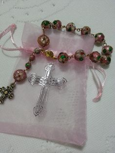 Rosary Bracelet... giveaway for the Christening of Aliya in 2010