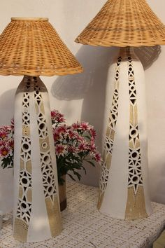 Ceramic Light, Pottery Sculpture, Tea Light Holder, Lamp Bases, Deco, Ceramic Pottery, Lamp Light, Tea Lights, Macrame