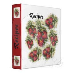 recipe binder with index