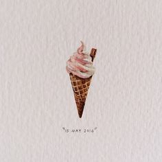 Day 135 : Pink ice cream and flake 11 x 28 mm - by Lorraine Loots