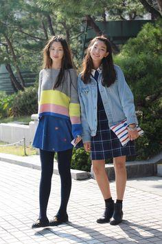 Streetstyle: Kim Jinkyung and Lee Hojeong at Seoul Fashion Week S/S 2013 shot by Kim Jinyong