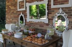 Simply set up for food for shower or lucheon by erika