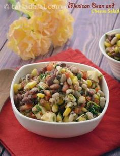 47 best mexican recipes veg mexican images on pinterest mexican mexican bean and cheese salad forumfinder Images