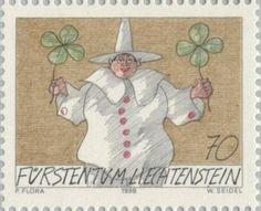 Sello: Clown (Liechtenstein) (Clown) Mi:LI 1174,Yt:LI 1115,Zum:LI 1116