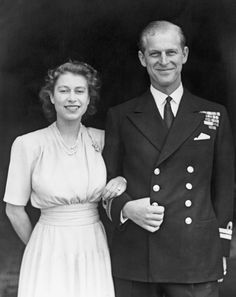 Princess Elizabeth and Prince Phillip announce their Engagement in 1947
