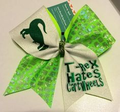 Bows by April - T-Rex Hates Cartwheels Glitter