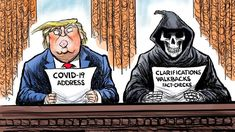 From breaking news and entertainment to sports and politics, get the full story with all the live commentary. Trump Cartoons, Political Cartoons, Cartoon Memes, Funny Memes, Trump Lies, Caricature, American History, Donald Trump, Shit Happens