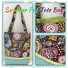 (9) Name: 'Sewing : Summer Fun Tote Bag