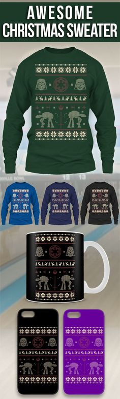Limited Edition Ugly Christmas Sweater For Star Wars Fan! Click The Image To Buy It Now or Tag Someone You Want To Buy This For. #starwars