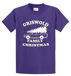 Comical Shirt Men's Griswold Family Christmas Funny Xmas Holiday Shirt Purple 5XL, Size: XXXXX-Large