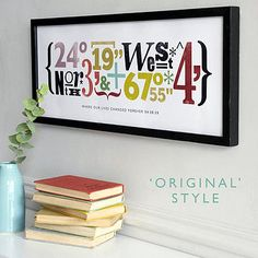coordinates. think this would be a neat housewarming gift.