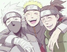 Kakashi, Naruto and Iruka So sweet together, love them <3