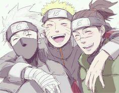 Kakashi, Naruto and Iruka So sweet together, love them <3