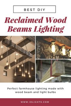 Look at these reclaimed wood beams chandelier ideas. Great in a vintage interior or even a kitchen, perfect for a rustic lamp as modern farmhouse lighting! Farmhouse Dining Room Lighting, Modern Farmhouse Lighting, Rustic Lamps, Wood Lamps, Chandelier Pendant Lights, Chandelier Ideas, Chandeliers, Vintage Lamps, Antique Decor