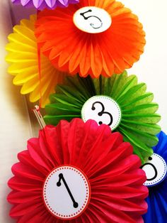 FlapJack Educational Resources - DIY Hanging Station Markers with FREE number labels