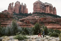 Sedona Wedding Photographer || Sedona Red Rock Engagement Photos in the Saddle of Cathedral Rock || Jane in the Woods