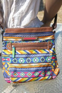 Lily Bloom Tribal Print Crossbody Purse Made From by in2purses2010, $14.99