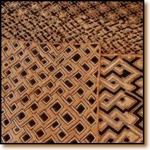 Su Shan Fiber Art made from raffia fiber. Kuba cloth is handcrafted in the Democratic Republic of the Congo Africa, based on ancient African weaving traditions of the Kuba people.