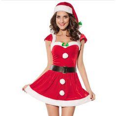 Slim Fit Santa Claus Costume Dress //Price: $22.92 & FREE Shipping //     } #HatsForWomenFancy