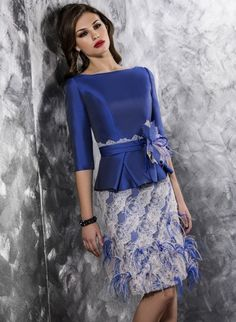 Cheap mother of bride, Buy Quality mother of bride dress directly from China mother of the bride Suppliers: 2016 Elegant New Arrival short Navy Blue appliques v back mother of the bride dresses with feathers Knee-Length formal dresses Elegant Dresses, Beautiful Dresses, Formal Dresses, African Fashion Dresses, African Dress, Ghanaian Fashion, African Men, African Style, Trendy Fashion