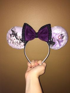 Evil lives on with these Disney Villains ears featuring Maleficent and Ursula. Awesome for any villain lover! Back of ears may feature same
