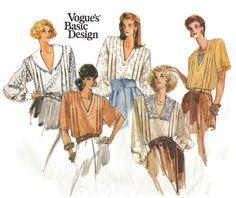 80s VOGUE BASIC DESIGN Sewing Pattern  1987 by KeepsakesStudio