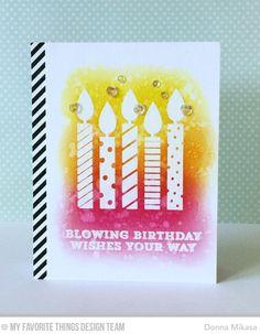 Make a wish three umbrellas: MFT June Card Kit Release Day
