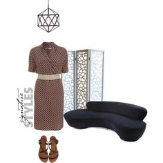 """Silk wrap-effect dress"" by nougatlondon on Polyvore"