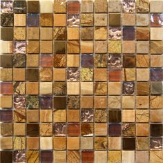 Sunshine Marble Glass Mosaic Tile   in stock $13.5/SF