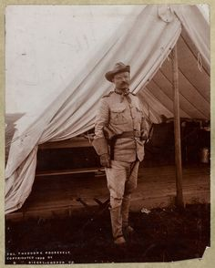 Theodore Roosevelt in uniform just after the Spanish-American War. Photo by Siegel, Cooper and Co. Library of Congress Prints and Photographs Division. Edith Roosevelt, President Roosevelt, Theodore Roosevelt, The Spanish American War, American Art, American History, Rough Riders, American Soldiers