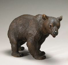 """Perfectly carved """"Black Forest"""" bear.  Circa 1880, Switzerland (17""""x24"""")."""