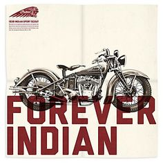 The Indian Motorcycle's identity for its 113 year history is its style. The company wanted a catalog and collectible poster that reflected this brand identity. They hired font designers  to  create a font that fit the identity.   What you see is what typography can do for a product/brand image.