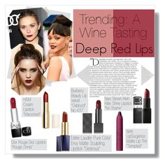 """""""A Wine Tasting"""" by thosewhowonderarenotalwayslost ❤ liked on Polyvore featuring beauty, Olsen, Balmain, Burberry, Christian Dior, Estée Lauder, H&M, tarte and NARS Cosmetics"""