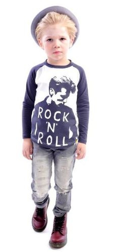Rock Your Baby – Funky Australian Kids Label for Prematurely Hip – Collection Little Kid Fashion, Cute Kids Fashion, Boy Fashion, Rockabilly Kids, Rockabilly Looks, Rock You Baby, Kids Labels, Stylish Boys, James Dean