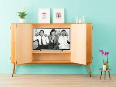 Vintage Kommoden - 60er Highboard, Fernsehschrank, Sideboard Vintage - ein Designerstück von Mid-Century-Friends bei DaWanda